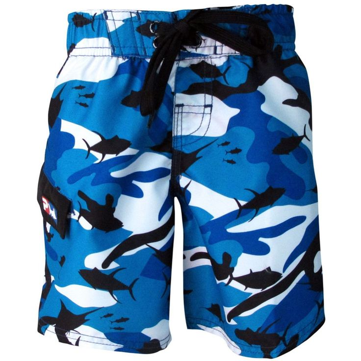 Pelagic Fish-Camo Youth Shorts
