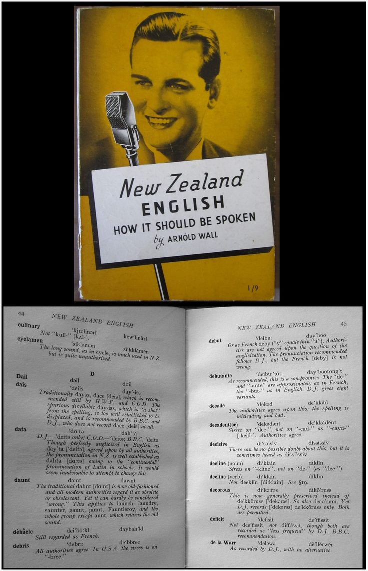New Zealand English : How it Should be Spoken 1938