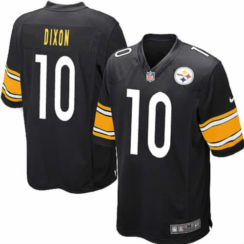 Men Dennis Dixon Pittsburgh Steelers Black Jersey #10 Game Nike NFL Jersey Sale