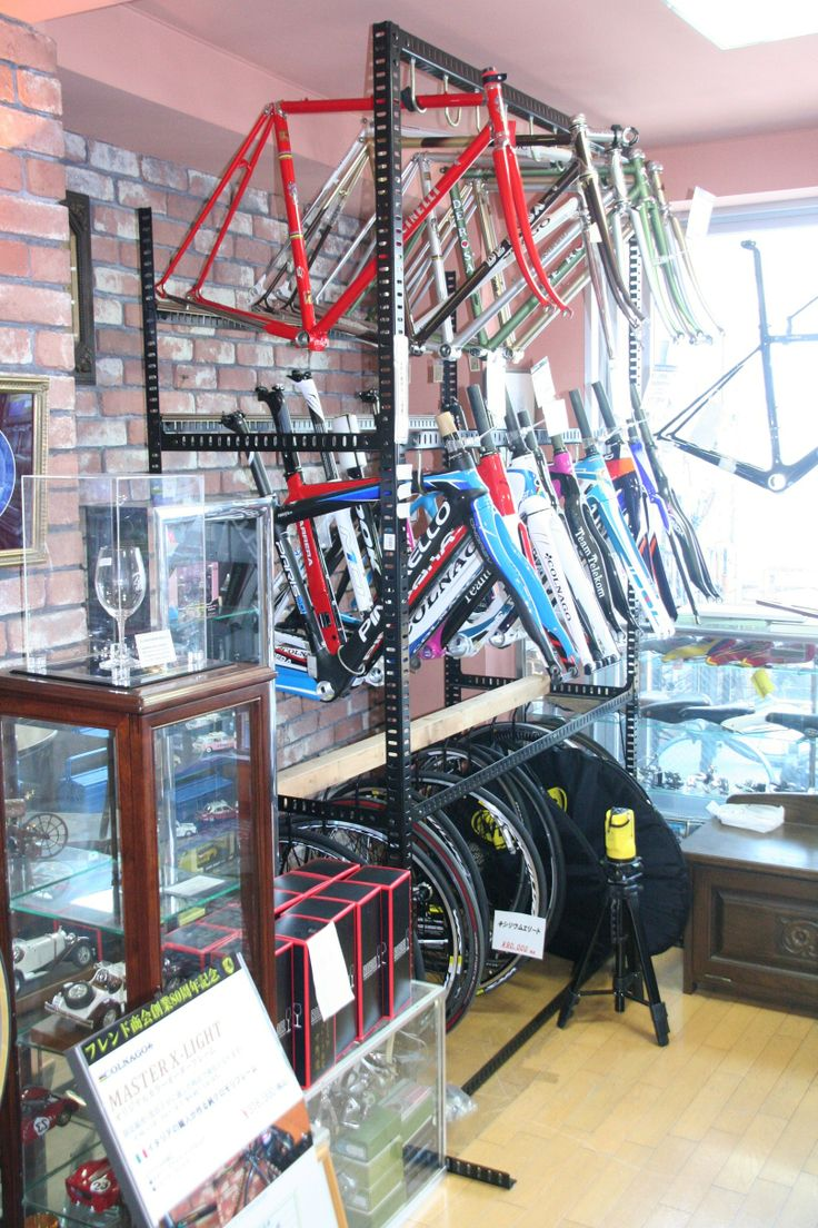 frame storage | spaces :: bike shop | Pinterest | Storage, Bike shops and  Bicycling