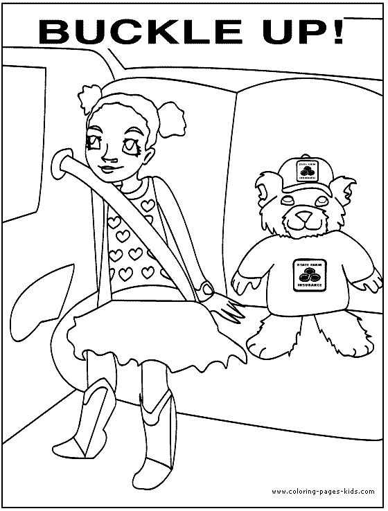 school safety coloring pages - photo#2