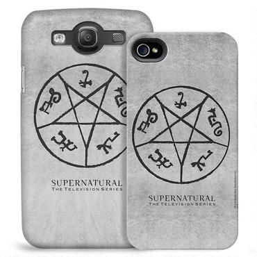 Supernatural Devil's Trap Symbol Phone Case for iPhone and Galaxy $31.46. This exclusive Supernatural phone case features the Devil's Trap symbol and will protect your iPhone or Galaxy in style. The ultra-thin firm outer shell fully covers the back and sides of your phone while giving you complete access to all ports and functions. For the iPhone only, a thin padded silicone sleeve sits between the phone and the case, giving your phone an extra level of protection.