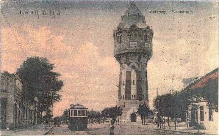 1913, Árpád út, az Újpesti víztorony
