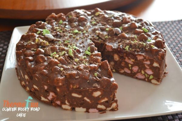 ThermoFun   Clinker Rocky Road Cake Recipe