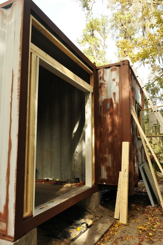 Shipping container homes, small home living, ISBUs, Corten steel containers, off the grid, self sufficient, homestead, container house,container home