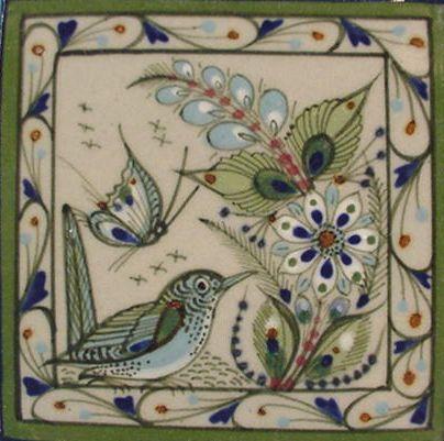 Tonala Mexican Handpainted Tile