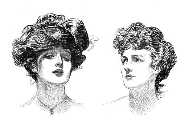 two women  by Charles Dana Gibson