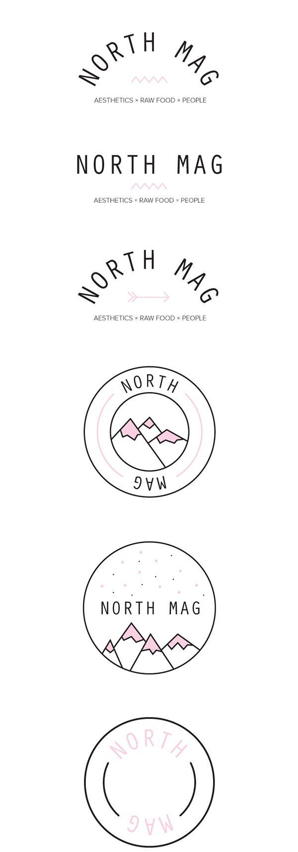 Logo for North Mag by Julie Wijckmans, via Behance