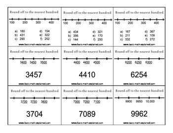 Rounding off numbers allows a student to use estimation to understand large numbers and to quickly check the accuracy of his or her work.  I created some cards to help your student learn to round off numbers. There are some examples for them to follow.   You can print as many cards as you need. Give them to students who are weak in this topic. Let them practice at home.  Please leave a comment if you like my product. Thank you.
