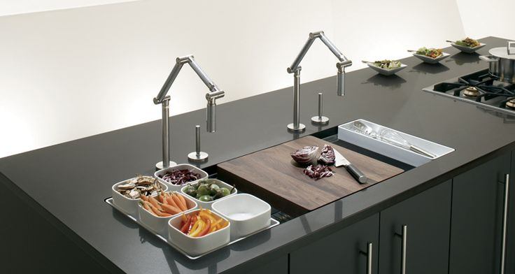 If your short on counter top space and don't want to sacrifice a large sink ... this sink is perfect!