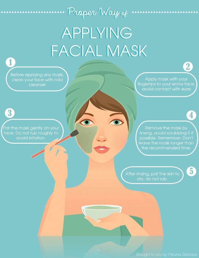 Proper Way of  Applying Facial Mask on Face brought to you by Petunia Skincare #facialmask #beauty #skincare