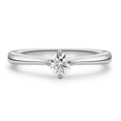 Platinum Round Brilliant Cut Diamond Ring