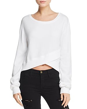 PAM & GELA CROSSOVER CROPPED SWEATSHIRT. #pamgela #cloth #