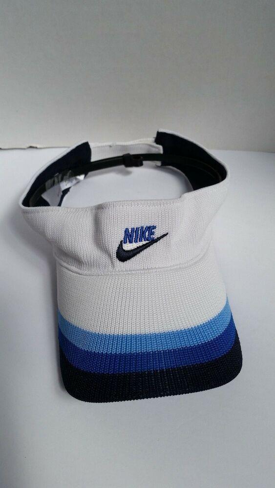6a194f066 Nike Knith Golf Hat Visor Adjustable White Blue Black #fashion ...