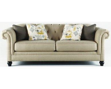 Vintage Casual Sofa In Putty   Sam Levitz Furniture