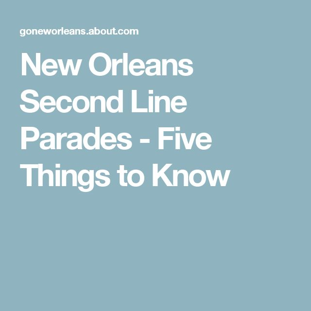 New Orleans Second Line Parades - Five Things to Know