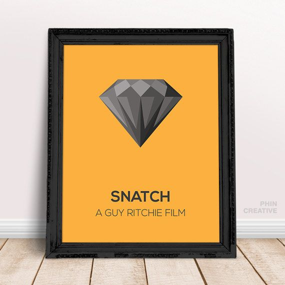 Snatch Inspired Art, Minimalist Movie Quote Poster, Home Office Decor Wall, English Guy Ritchie Brad Pitt Art, Birthday Christmas Gift Art