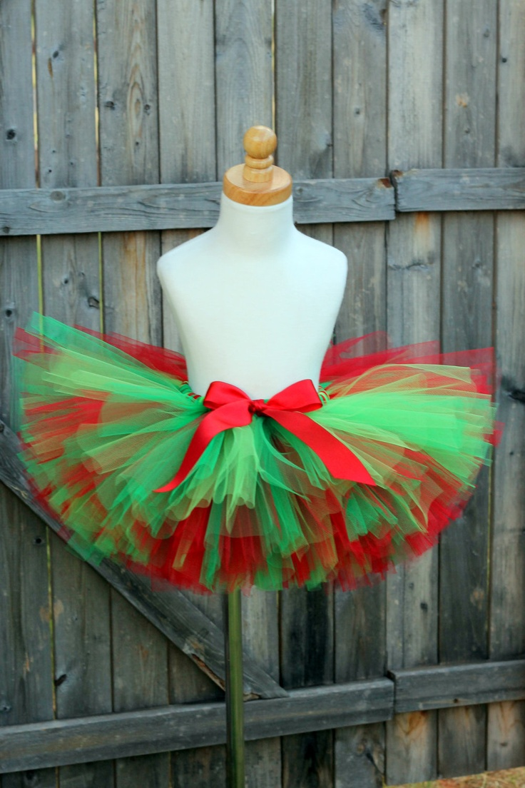Holly Jolly Christmas Tutu Red and Green Tutu