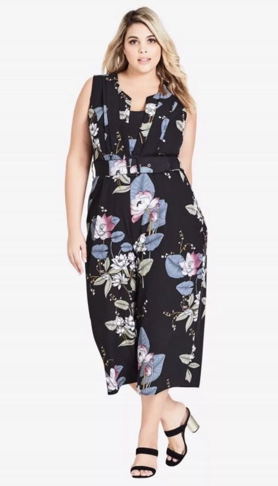 bc13a05c1ad City Chic Sz S 16 Blossom Jumpsuit NWT Oriental  fashion  clothing  shoes   accessories  womensclothing  jumpsuitsrompers (ebay link)