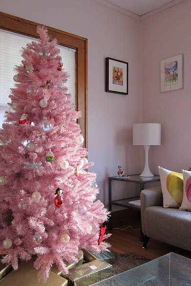 75 best Pink Tinsel Christmas Tree images on Pinterest | Christmas ...