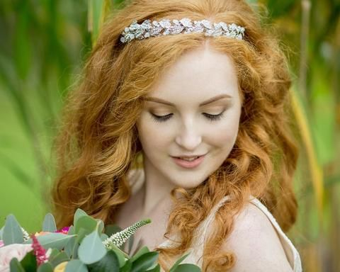 Glamorous Style Rhinestone & Crystal Hairband, Opal