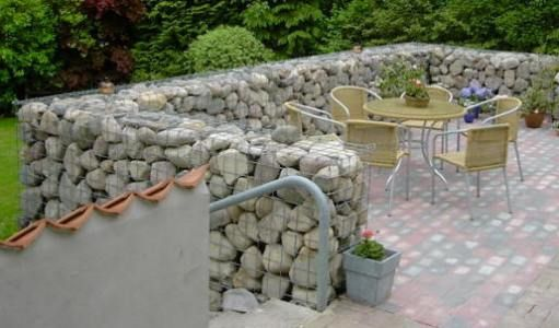 Landscaping ideas with boulders gabion landscaping for Simple wall garden ideas