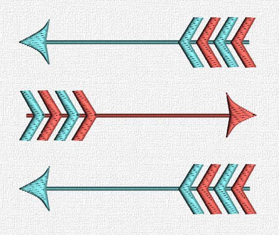 Arrow machine embroidery pattern design download