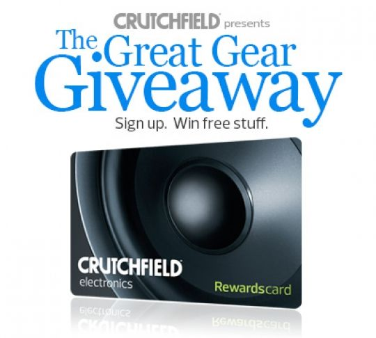 Win A $350 Crutchfield Gift Certificate! Expires:  Apr 30, 2015 Eligibility:  United States | 18+