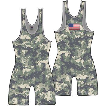 Worldwide Exclusive!!! Army Digital Camouflage Wrestling Singlet