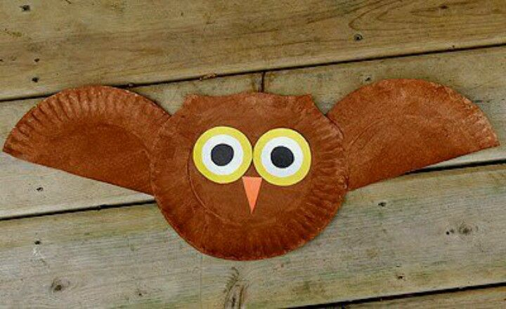 Fall Paper Plate Owl Children, Preschool Craft / Art Project - Great for Pre-K Complete Preschool Curriculum's Fall theme! Repinned by Pre-K Complete - follow us on our blog, FB, Twitter, & Google Plus!