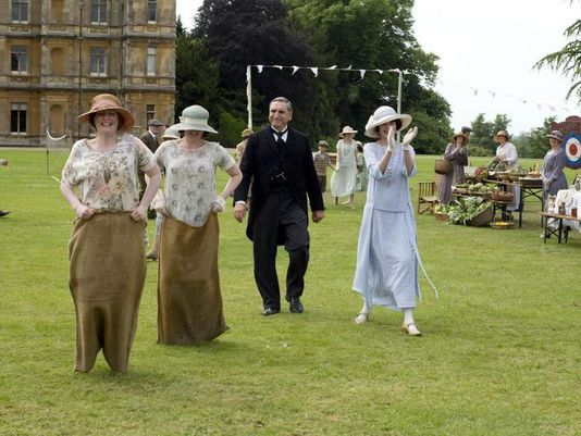 "the village bazaar on ""Downton Abbey"""