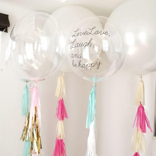 Message Options コンフェッティバルーン(お好きな文字やロゴをプリントできます) - Chubby Balloon フリンジバルーンとおしゃれなバルーン電報のことならチャビーバルーン 大阪