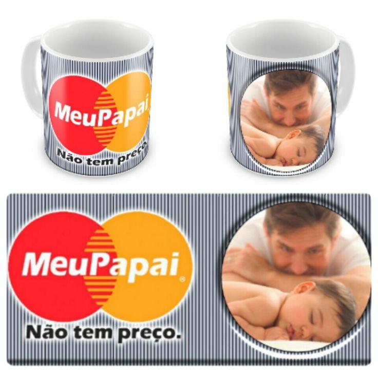 Caneca personalizada Pai Mastercard, presente especial para aqueles pais que não tem preço!