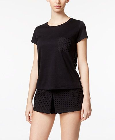 Small-kate spade new york Eyelet Top and Skort Knit Pajama Set