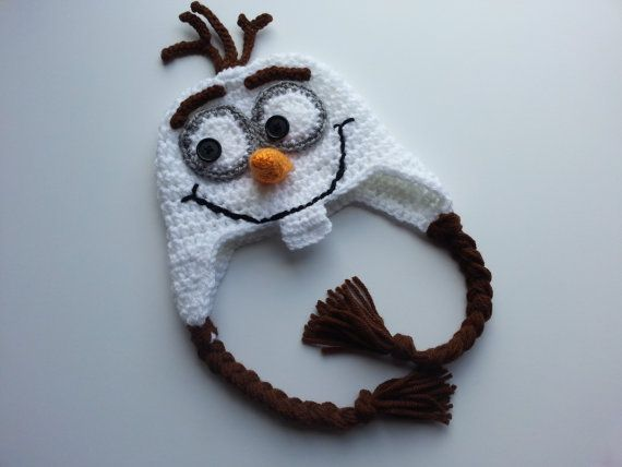 Crochet  Olaf Hat-Frozen Hats