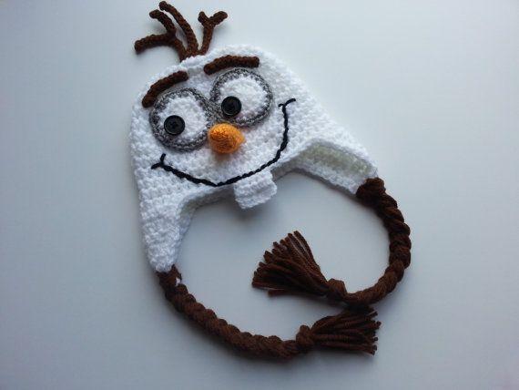 Crochet Olaf Hat- Frozen Hats- photo prop-Olaf hat-frozen costume-Snowman Hat-Child Hat