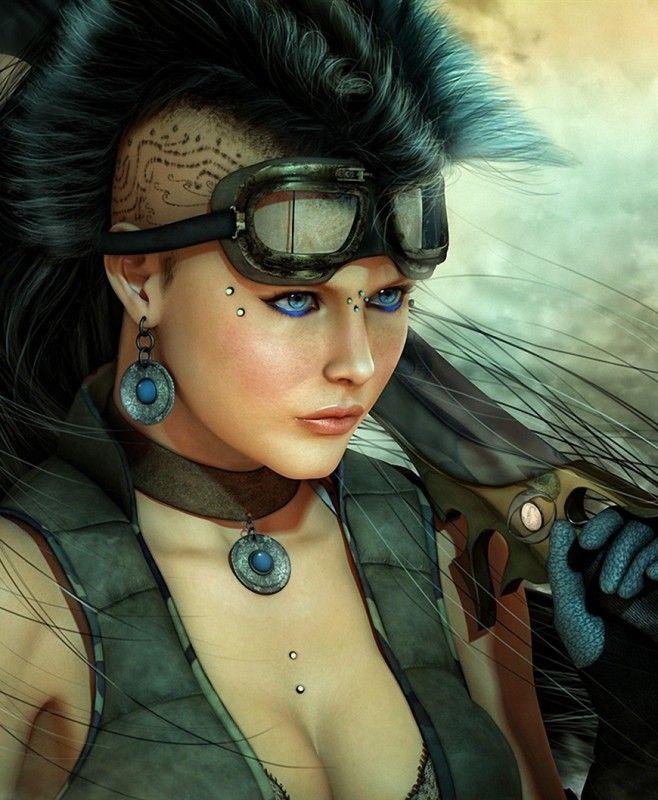Tattoo Fixers Psychobilly Girl Punk: #Art #Girl #Tattoo #Knife #Sword #Blade #Glasses #Gun