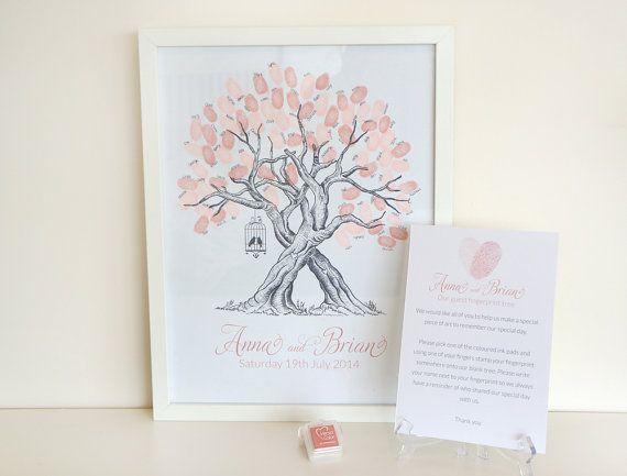 Custom Birdcage Wedding Fingerprint Tree by TheLittleTouchesUK