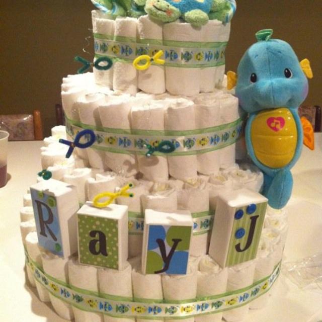 Under The Sea Diaper Cake Baby Shower Diaper Cakes