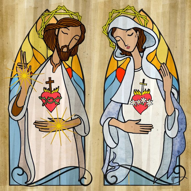 The Sacred Hearts of Jesus and Mary | East of Here and West of There INMACULADO CORAZÓN DE MARÍA, LLEVANOS AL SAGRADO CORAZÓN DE JESUS.  SAGRADO CORAZÓN DE JESUS, EN VOS CONFIAMOS.