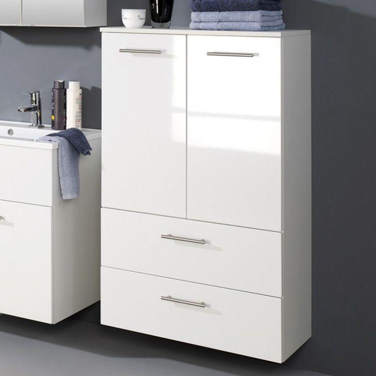 Badezimmer-Midischrank in Hochglanz-Weiß 70 cm breit Jetzt - badezimmer hochschrank 40 cm breit