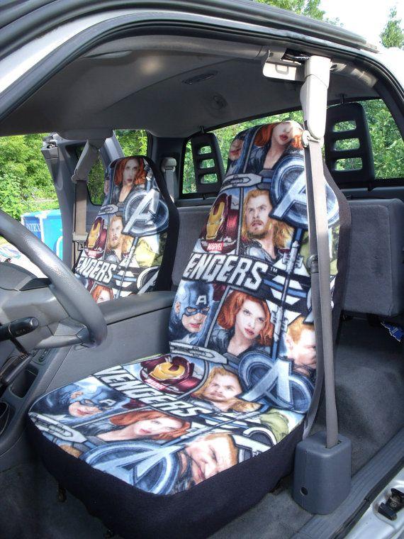 1 Set Of Marvel Avengers Print Custom Car Seat By