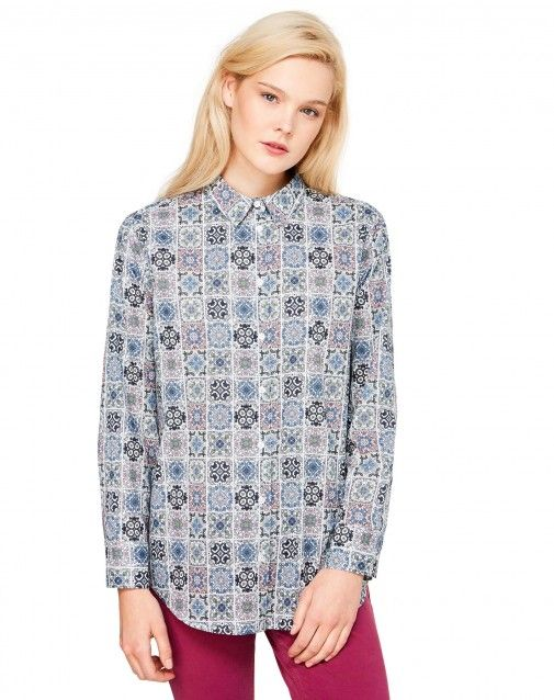 Shop Patterned shirt Blue for TOPS at the official United Colors of Benetton online shop.