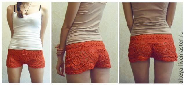 Pantalones cortos de ganchillo: Crochet Ideas, Make Shorts, Crochet Tutorials, Crochet Clothes, Crochet Shorts, Crochst Shorts, Crochet Pants, Shorts Master, Crovhet Shorts