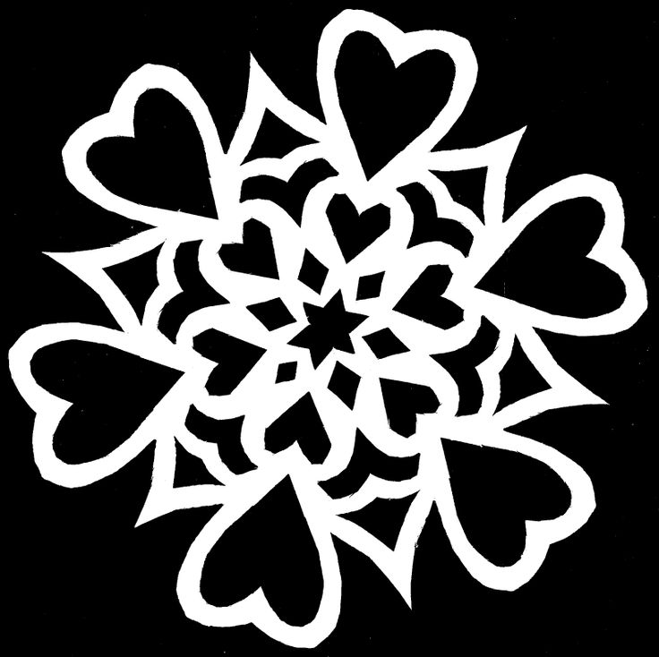 Paper Snowflake Cutting Pattern 12 By Whitneylunt On