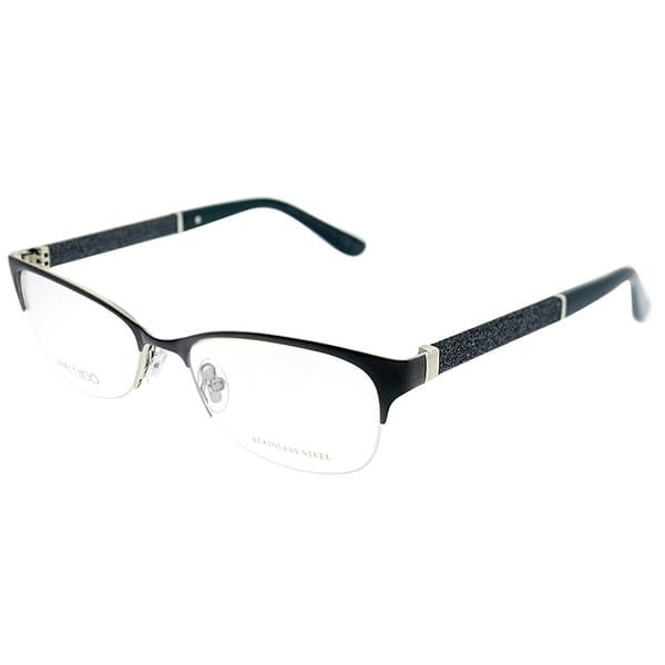 3fea7f4d472 Jimmy Choo Semi-Rimless JC 106 P8H Women Matte Navy Frame Eyeglasses ...