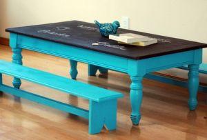 DIY: Kids Chalkboard Table