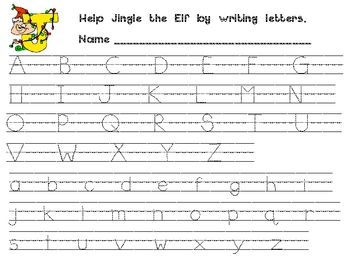 FREE Christmas Handwriting Practice - traceable upper and lower case letters
