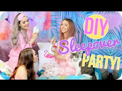 What to do at a Sleepover! DIYS, Snack Ideas, Activites & MORE - YouTube