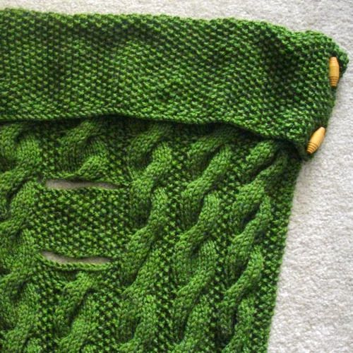 Car-seat blanket for baby and toddler, PDF knitting pattern